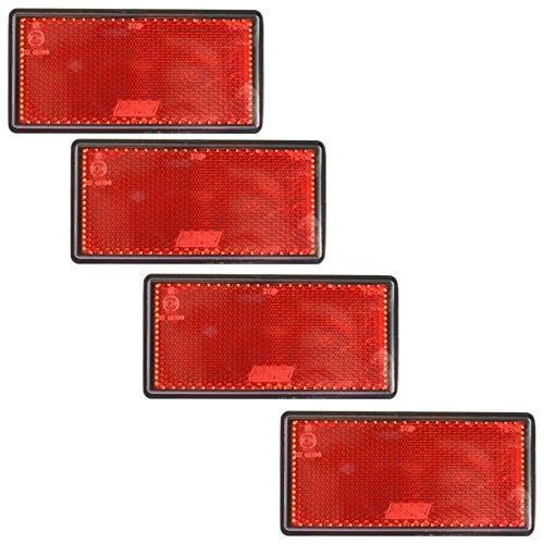 AB Tools Grand réflecteur arrière Rouge Pack 4 Clôture Barrière Remorque TR212 Autocollant Post