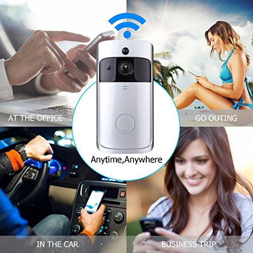 Video Türklingel Wi-Fi aktiviert Bewegung erkennen Kamera Funkklingel Türklingel Unterstützung APP-Funktion
