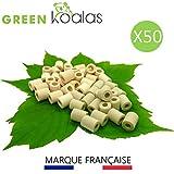 X50 PACK Purificateur Naturel Perles Céramique EM ROSES (x30) + GRISES (x20) aux Micro-Organismes Efficaces (Tubes) pour Filtration Eau du Robinet Carafe Fontaine Gourde Machine à café Bouilloire