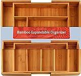 Utopia Kitchen [6-8 compartiments] Range-couverts en bambou extensible - Range...