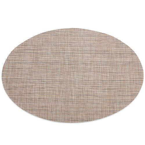 Lot de 4 sets de table ovales en PVC imperméable, isolation thermique, 45 x 30 cm