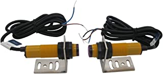Taiss/ 1 Pair Proximity Switch M18 Infrared Ray Through-Beam Reflection Optical Photoelectric Switch Sensor Three Lines PNP NO Inductive Distance 5M with mounting Bracket 6-36VDC E3F-5DP1-2Z