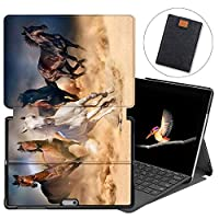 MAITTAO Case For Microsoft Surface Go 2018, Folio Smart Stand Cover with Pen Holder for Surface Go 10-inch Tablet Sleeve Bag 2 in 1, Compatible with Type Cover Keyboard, Akhal-Teke Horse 15