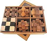 LOGOPLAY 6 Knobelspiele im Set - Spielesammlung 3D Puzzle - Denkspiele - Knobelspiele - Geduldspiele...