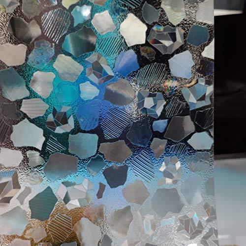 LMKJ Película de Ventana estática patrón de Grava PVC decoración del hogar protección de privacidad Pegatina de Vidrio Esmerilado Impermeable A7 60x100cm