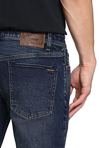 Volcom 2X4 Denim Pantalon en Jean pour Homme XXXL Bleu (Medium Blue Wash)