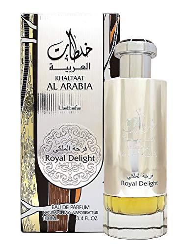 petit un compact Parfum KHALTAATAL ARABIA ROYAL DELIGHT 100 ml, Eau de Parfum Unisexe, Parfum Arabe, Oud Oriental,…