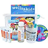 """wellsamed wellsakids Zahnpflege Reiseset Kinder Mundpflege-Set Zahnpflege-Set Travel Set""""Ready-For-Holiday Kids"""""""