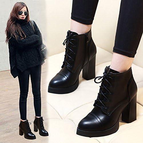 GTVERNH-les bottes d'hiver imperméables des bottes avec des bottes et des sangles épais martin velours marée nues chaussures bottes
