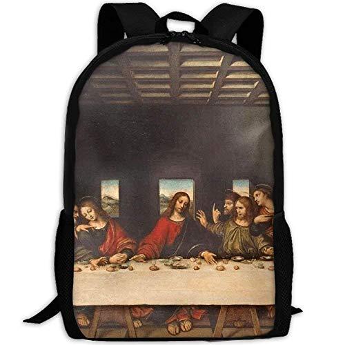 NA Schilderij Het Laatste Avondmaal Unieke Outdoor Schouders Tas Stof Rugzak Multipurpose Daypacks