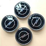 HBTTFR 4 Stück, 68mm, Auto-Rad-Mitte-Naben-Kappen staubdichte Abdeckung Hubcaps Car Center Felgen-Abzeichen-Emblem Radkappe...