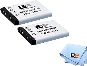 BP EN-EL19 2- Batteries Compatible W/Nikon A100, Coolpix S33, S100, S3200, S3300, S3500, S3600, S4100, S4200, S4300, S5200, S5300, S6500, S6600 S6800 S6900 S7000, Sony NP-BJ1 DSC-RX1 Digital Camera