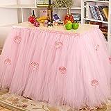 Faldones de mesa de LianLe, faldones de estilo tutú, ideales para fiestas de princesa, fiestas para bebés y bodas