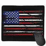 American Flag Rectangular Non-Slip Rubber Mouse Pad 2530