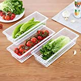 MULTIPURPOSE: Food Storage Container with drain plate, suitable for storing seafood, meat, fruits and vegetables, tableware, etc. Lock fresh and keep water. ENVIRONMENTAL MATERIAL: Made of Food Grade PP plastic, clear freezer container, easy to find ...