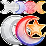 2 Pieces Star Moon Tray Resin Mold and Moon Phase Tray Silicone Mould Set Star Moon Shape Storage Box Mold Candle Holder Star Silicone Mold Jewelry Container Casting Mold for DIY Crafts Home Decor