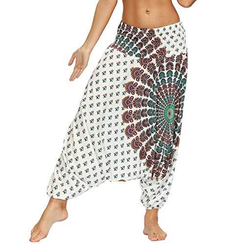 Mallas de Deporte de Mujer, Mujeres gota gota con estilo hippie harem pantalones elástica cintura suelta holgazgy boho yoga pantalones verano casual bohemio bolso pantalones Pantalon de Correr Pilates