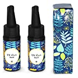 Miraclekoo Crystal UV Resin Clear Hard UV Curing Epoxy Resin Ultraviolet Curing Solar Cure Resin Sunlight Activated Resin for DIY Jewelry Making Casting & Coating,50g
