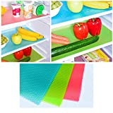 Bravolated 12Pack Refrigerator Mats Shelf Liners Washable Pads for Glass Shelves Non-Slip Liners for Refrigerator EVA Shelf Liner