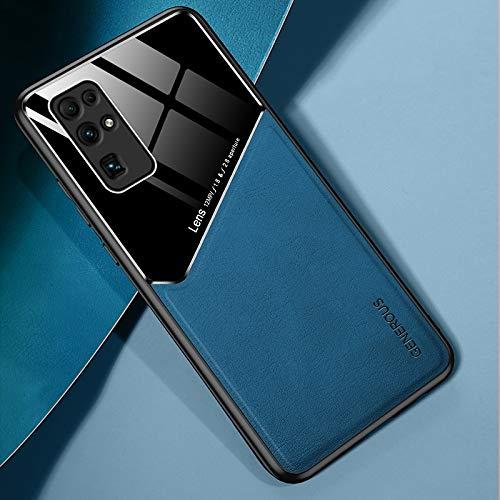 LWL House Caso para Huawei Honor 30 Funda Protectora de Vidrio orgánico + de Cuero Todo Incluido con Chapa de Hierro metálico (Color : Royal Blue)
