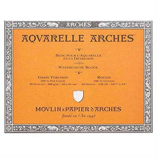 Arches Watercolor Block, Rough 18'X24', 18' x 24'