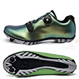 CHANGAN Elite SPD MTB Cycling Shoes for Men Women Ideal for Mountain, Cyclo Cross Country XC Bikes in Included Discoloration green-42