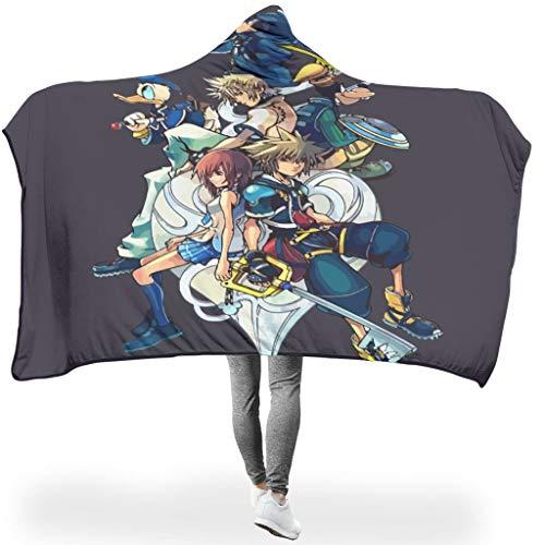 Rinvyintte Kingdom Hearts licht verschillende patronen capuchon deken voor kantoor in de winter elegante stijl multiple roles