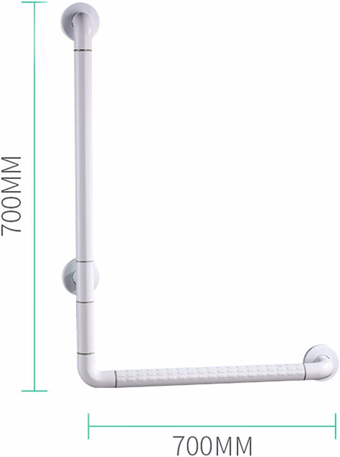 CJSHVR-Safety Handrail for Bathroom, Toilet and Toilet Without Barrier Handrails,70X70Cm,White