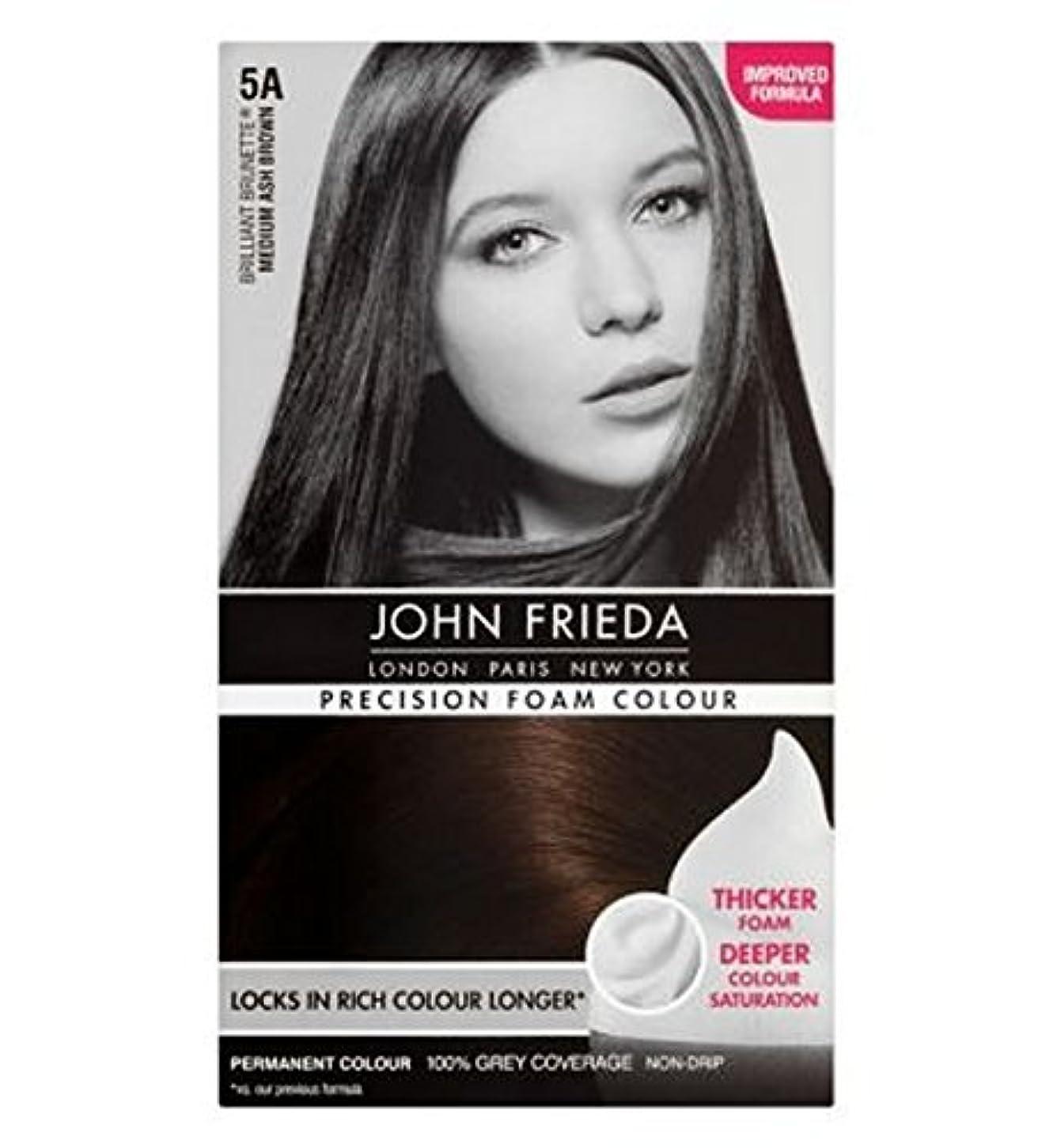 鳴らすライド石灰岩John Frieda Precision Foam Colour 5A Medium Ash Brown - ジョン?フリーダ精密泡カラー5Aのミディアムアッシュブラウン (John Frieda) [並行輸入品]