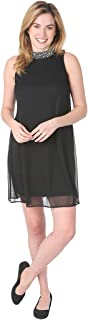 T I A N A B. Tiana B Women's Sleeveless A-Line Knit Dress with Beading at Neck