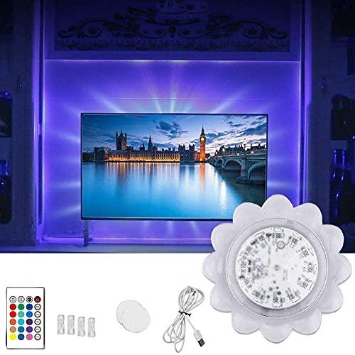 qing niao TV LED Backlights, RGB Lights USB Powered Smart LED Strip Lights Sound Sensor TV RGB LED Lamp Self Adhesive Wall Light for Party TV Home Decoration