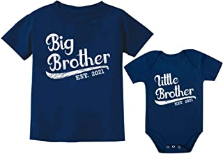 Sibling Shirts Set for Big Brother Little Brother 2021...