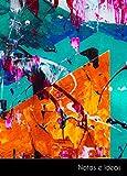 Notas e Ideas: Cuaderno / diario pequeño abstracto pintura