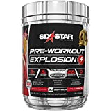 Pre Workout | Six Star Preworkout Explosion | Pre Workout Powder for Men & Women with Creatine Monohydrate & Beta Alanine for Energy, Focus and Intensity | Energy Powder | Fruit Punch (30 Servings)