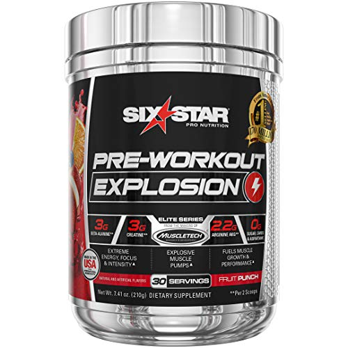 Pre Workout | Six Star Preworkout Explosion | Pre Workout Powder for Men & Women with Creatine...