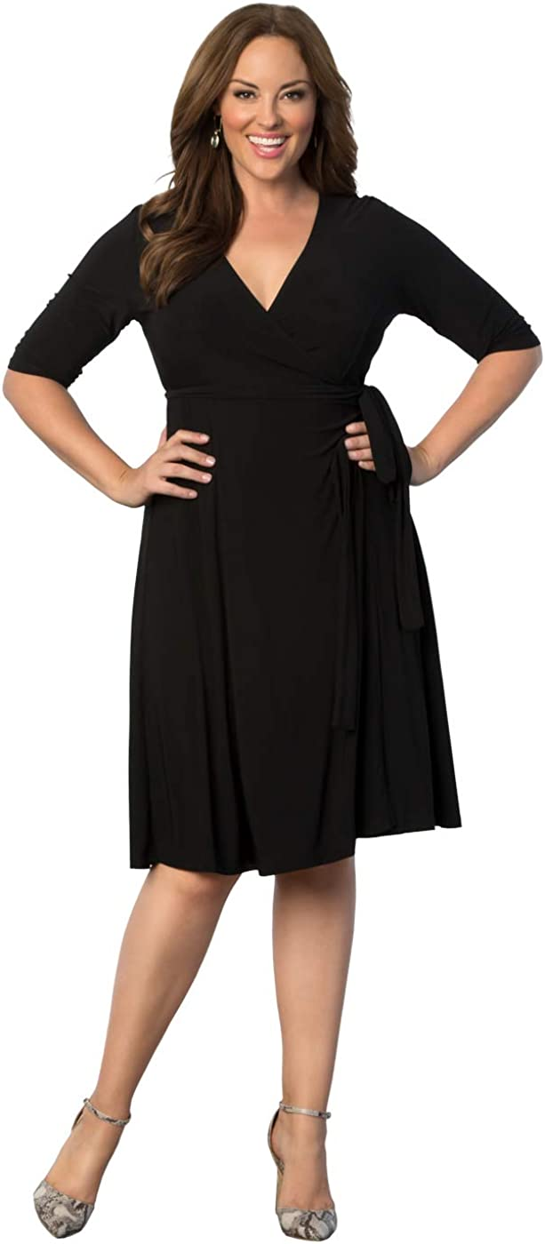 Kiyonna Women's Plus Size Essential Wrap Dress