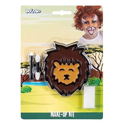 Boland 45108 - Juego de maquillaje con paleta, 2 colores con aplicador, pincel y lpiz de maquillaje, disfraz, carnaval, fiesta temtica, Halloween