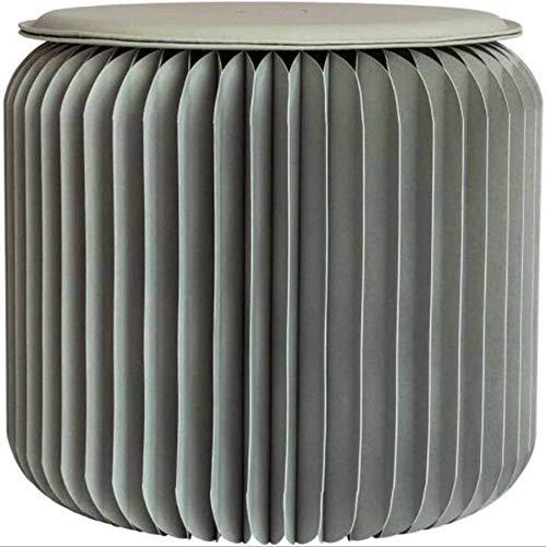 OUHUI Hocker Kleiner Runder Hocker Hocker Kraft Klappstuhl Pappstuhl Esszimmer Feuchtigkeits- Und Wasserabweisende Behandlung, Wasserabweisend Auf Papieroberfläche
