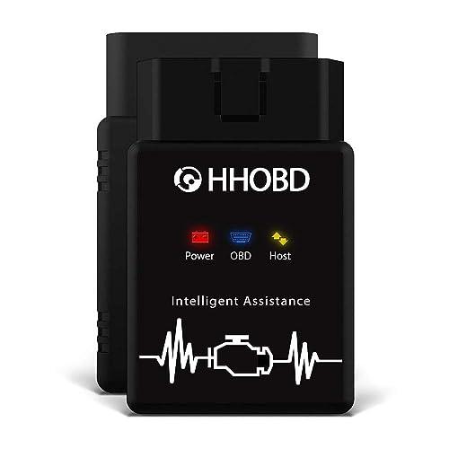 EXZA® HHOBD® (2. Gen.) Bluetooth Professioneller OBD2 Diagnosegerät mit CAN Bus und EOBD Kfz Auto OBD 2 Adapter - Kompatibel mit Android, Windows & Linux