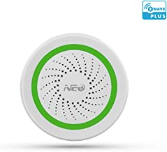 NEO Z-Wave Plus Siren Alarm with Strobe alerts, Battery-Powered, Works with SmartThings