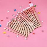 Kit de cepillo cosmético de 20 piezas, juego de cepillo de cejas de uso profesional, vestido encantador para amantes del maquillaje, artista de maquillaje profesional(Coffee color)