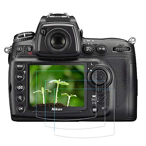 Protector de pantalla D90 D7000 para cámara Nikon D90 D7000 D700 D300S (3 unidades) FANZR 0,3 mm 9H dureza cristal templado antiarañazos