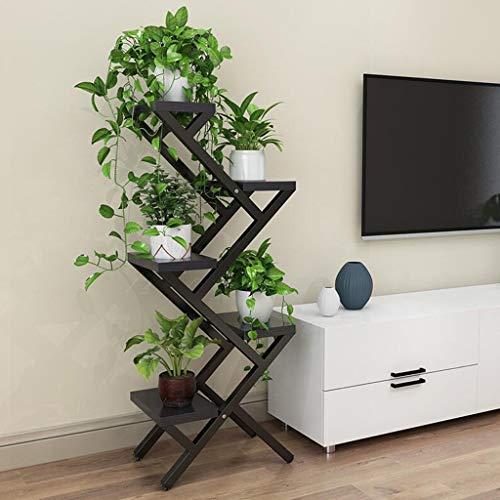 WXL Étagère à fleurs de salon, espace intérieur à plusieurs étages, balcon en fer forgé, vert charnu, vert, orchidée suspendue, cadre de décoration (Couleur : G, taille : 80 * 40 * 25cm)