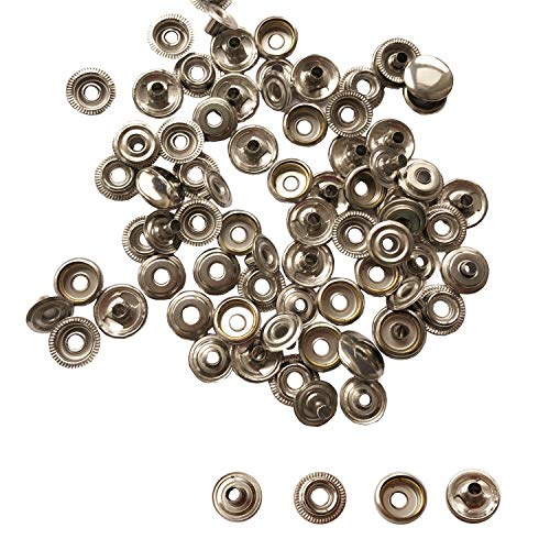 Fasteners Threaded Rods /& Studs 25pairs Sockets Boat Canvas Snaps 25X Caps Buttons /& 25X Sockets Boat Snaps Canvas Dot Snap Rivets
