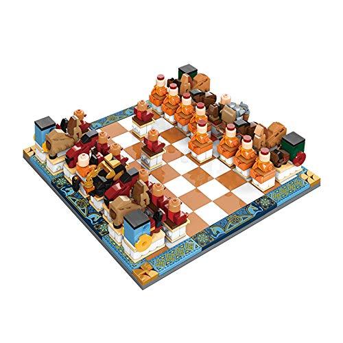 1yess Bausteine Checkers TIC TAC-Zehe, Ziegelsteine DIY Montieren 3D Puzzle Modell für Indoor/Outdoor Fun Board Spiel für alle Altersgruppen, Multicolor 8bayfa