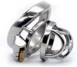 ZBZYXA Male Prismatic Chastity Lock Chaff Stainless Steel Ring Pen/is Ring Tshirt T-Shirt Trousers