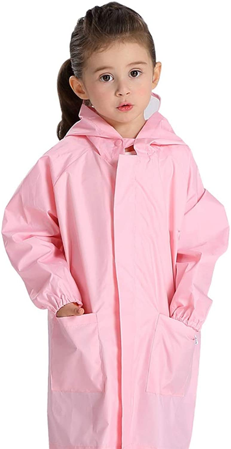 Cartoon Baby Raincoat, Lightweight and Breathable Outdoor Travel Waterproof Poncho, Reusable 29 Years Old (color   Pink, Size   M)