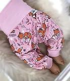 Pumphose Jersey haremshose Gr. 56-110, hose Mädchen rosa Fuchs Babyhose, Kinderhose