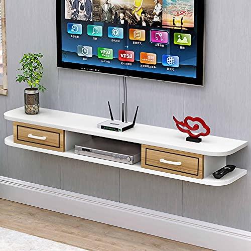 Mueble TV de Pared, Mueble de TV Flotante Mate, Unidad de Entretenimiento de Montaje en Pared para Sala de Estar, Sala de Entretenimiento, Oficina/C / 150cm