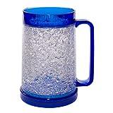 Liquid Logic Double Wall Gel Freezer Mug with Color Infused Handle, 16 oz, Blue